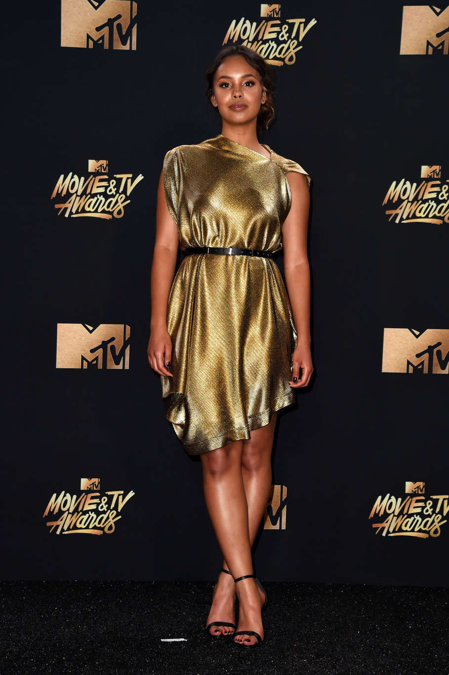 LOS ANGELES, CA - MAY 07: Actor Alisha Boe poses in the press room during the 2017 MTV Movie And TV Awards at The Shrine Auditorium on May 7, 2017 in Los Angeles, California. (Photo by Alberto E. Rodriguez/Getty Images)
